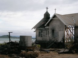 Burnt church