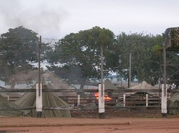 Flames in camp